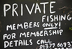 Private fishing members only sign