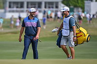 Jon Rahm (ESP) shares a laugh with his caddie as they approach the green on 15 during day 2 of the WGC Dell Match Play, at the Austin Country Club, Austin, Texas, USA. 3/28/2019.<br /> Picture: Golffile | Ken Murray<br /> <br /> <br /> All photo usage must carry mandatory copyright credit (© Golffile | Ken Murray)