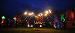 The lighting of the Pascal Fire on the hill of Slane. Photo: Colin Bell/pressphotos.ie