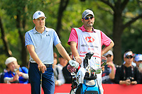 Jordan Spieth (USA) on the 3rd tee during the 3rd round of the WGC HSBC Champions, Sheshan Golf Club, Shanghai, China. 02/11/2019.<br /> Picture Fran Caffrey / Golffile.ie<br /> <br /> All photo usage must carry mandatory copyright credit (© Golffile | Fran Caffrey)