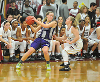 NWA Democrat-Gazette/MICHAEL WOODS &bull; @NWAMICHAELW<br /> Fayetteville High School vs Springdale High School Friday, January 15, 2016 during their basketball game at Springdale High School.