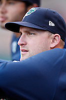 June 29, 2009:  Pitcher Adam Russell of the Charlotte Knights in the dugout during a game at Coca-Cola Field in Buffalo, NY.  The Knights are the International League Triple-A affiliate of the Chicago White Sox.  Photo by:  Mike Janes/Four Seam Images