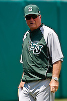 April 23, 2011:   Stetson Hatters head coach Pete Dunn during Atlantic Sun Conference action between Stetson Hatters and Jacksonville University Dolphins at John Sessions Stadium in Jacksonville, Florida.  Jacksonville defeated Stetson 10-4...........
