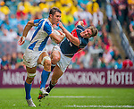 Hong Kong play Argentina in a Bowl Quarter Final on Day 3 of the Cathay Pacific / HSBC Hong Kong Sevens 2013 on 24 March 2013 at Hong Kong Stadium, Hong Kong. Photo by Manuel Queimadelos / The Power of Sport Images