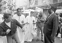 Circas 1990 Frances Ford Coppola on location for the shooting of Godfather III in Little Italy