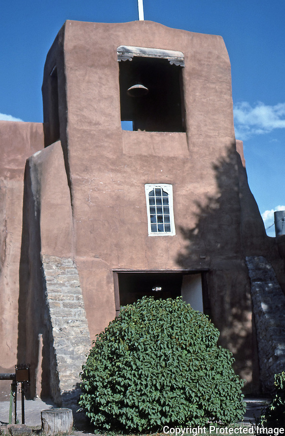 San Miguel Chapel, Santa Fe, New Mexico, July 1987.