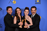 Michael Zegen, Marin Hinkle, Rachel Brosnahan &amp; Tony Shalhoub at the 75th Annual Golden Globe Awards at the Beverly Hilton Hotel, Beverly Hills, USA 07 Jan. 2018<br /> Picture: Paul Smith/Featureflash/SilverHub 0208 004 5359 sales@silverhubmedia.com