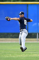 New York Yankees Dominic Jose (62) during practice before a minor league spring training game against the Toronto Blue Jays on March 24, 2015 at the Englebert Complex in Dunedin, Florida.  (Mike Janes/Four Seam Images)