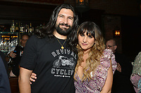 """NEW YORK - MARCH 19: Actors Kayvan Novak and Natasia Demetriou attend the party at the Bowery Hotel Terrace following the premiere for FX Networks """"What We Do In The Shadows"""" on March 19, 2019 in New York City. (Photo by Anthony Behar/FX/PictureGroup)"""