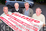 Brendan Dennehy, Mike McKenna, Denis Tangney and Pat Moriarty who are busy preparing for the Mid Kerry Vintage Rally which will be held in Castlemaine on Sunday 25th August