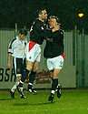 27/11/2004  Copyright Pic : James Stewart.File Name : jspa13_falkirk_v_ross_county.ANDY THOMSON CELEBRATES WITH DANIEL MCBREEN AFTER HE SCORED FALKIRK'S SECOND......Payments to :.James Stewart Photo Agency 19 Carronlea Drive, Falkirk. FK2 8DN      Vat Reg No. 607 6932 25.Office     : +44 (0)1324 570906     .Mobile   : +44 (0)7721 416997.Fax         : +44 (0)1324 570906.E-mail  :  jim@jspa.co.uk.If you require further information then contact Jim Stewart on any of the numbers above.........