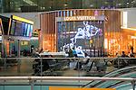 Louis Vuitton advertising screen, Terminal Five, Heathrow airport, London, England, UK