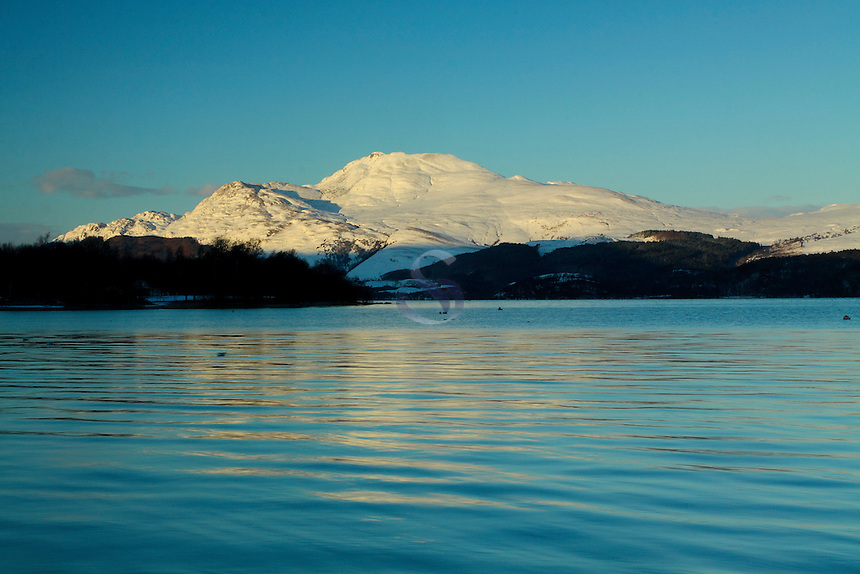 Ben Lomond and Loch Lomond in winter from Luss, Loch Lomond &amp; The Trossachs National Park<br /> <br /> www.scottishhorizons.co.uk/Keith Fergus 2011 All Rights Reserved