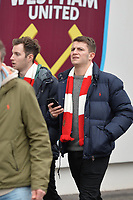 Arsenal fans during West Ham United vs Arsenal, Premier League Football at The London Stadium on 12th January 2019