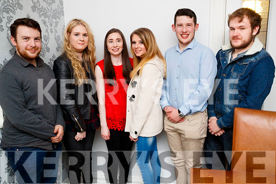Julianne McCarthy, Duagh, who celebrated her 20th birthday with friends at Bella Bia restaurant, Tralee, on Friday night last, l-r: Matthew Wallace, Shannon Canty, Imelda Kissane, Julianne McCarthy, Joseph Lynch and Aaron Downey.