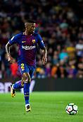 9th September 2017, Camp Nou, Barcelona, Spain; La Liga football, Barcelona versus Espanyol; Nelson Semedo form Portugal of FC Barcelona controls the ball