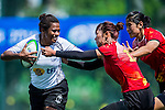 Fiji vs China during the Day 2 of the IRB Women's Sevens Qualifier 2014 at the Skek Kip Mei Stadium on September 13, 2014 in Hong Kong, China. Photo by Aitor Alcalde / Power Sport Images