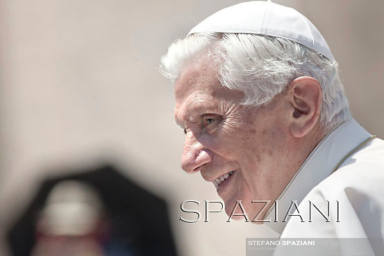 Pope Benedict XVI during his weekly general audience in St. Peter square at the Vatican, Wednesday. 30 May, 2012