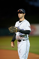 Lakeland Flying Tigers Zac Shepherd (18) before a Florida State League game against the Tampa Tarpons on April 5, 2019 at Publix Field at Joker Marchant Stadium in Lakeland, Florida.  Lakeland defeated Tampa 5-3.  (Mike Janes/Four Seam Images)