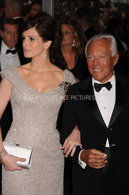 WWW.ACEPIXS.COM . . . . . ....May 5 2008, New York City....Actress Julia Roberts and designer Giorgio Armani arriving at the Metropolitan Museum of Art Costume Institute Gala, Superheroes: Fashion and Fantasy, held at the Metropolitan Museum of Art on the Upper East Side of Manhattan.....Please byline: KRISTIN CALLAHAN - ACEPIXS.COM.. . . . . . ..Ace Pictures, Inc:  ..(646) 769 0430..e-mail: info@acepixs.com..web: http://www.acepixs.com
