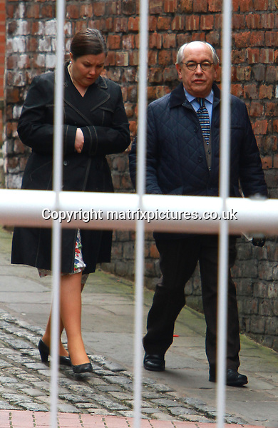 NON EXCLUSIVE PICTURE: MATRIXPICTURES.CO.UK.PLEASE CREDIT ALL USES..WORLD RIGHTS..British actress Pattie Clare and British actor Malcolm Hebden are pictured on the Coronation Street set in Manchester. ..FEBRUARY 20th 2013..REF: IRF 131201