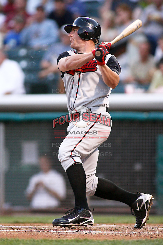 August 12, 2009: Brendan Katin of the Nashville Sounds, Pacific Cost League Triple A affiliate of the Milwaukee Brewers, during a game at the Spring Mobile Ballpark in Salt Lake City, UT.  Photo by:  Matthew Sauk/Four Seam Images