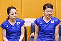 Ayaka Takahashi & Misaki Matsutomo (JPN), JULY 19, 2016 - Badminton : Training for Rio Olympic Games in Tokyo, Japan. (Photo by Sho Tamura/AFLO SPORT)