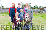 Lisa, Ciara, Geraldine and Patrick Fitzgerald (from Lispole), with Katie and Paula O'Brien (from Muiríoch) and Mary O'Neill (Dingle) showing off Milly and Lilly at the West Kerry Agricultural Show dog show in Dingle on Sunday afternoon.