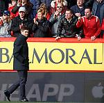03.03.2019 Aberdeen v Rangers: Steven Gerrard and Aberdeen fans