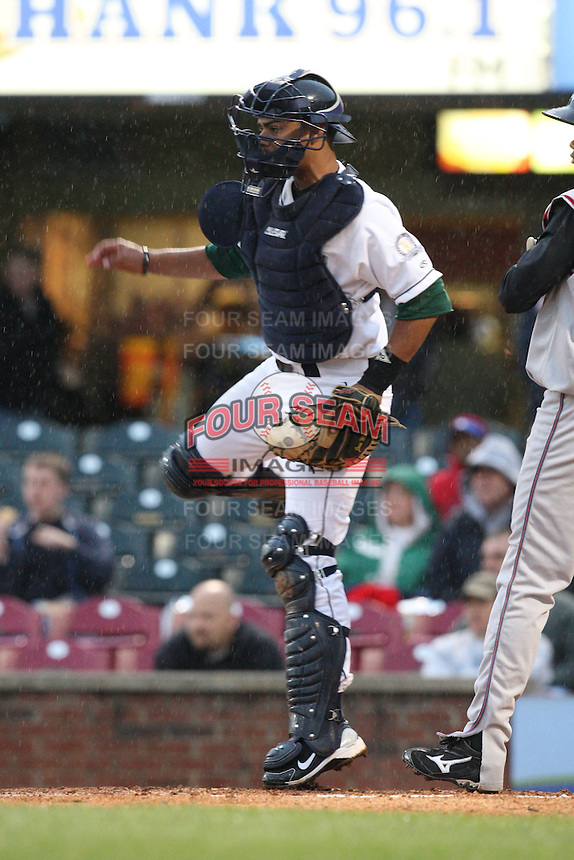 April 20, 2010: Rene Garcia (4) at Applebee's Park in Lexington, KY. The Legends are the Class A affiliate of the Houston Astros. Photo by: Chris Proctor/Four Seam Images