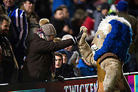 Bath Rugby mascot Maximus mingles with the crowd. Aviva Premiership match, between Bath Rugby and Wasps on December 29, 2017 at the Recreation Ground in Bath, England. Photo by: Patrick Khachfe / Onside Images