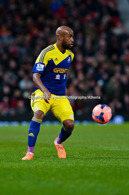 Sunday 05 January 2014<br /> Pictured: Luke Moore<br /> Re: Manchester Utd FC v Swansea City FA cup third round match at Old Trafford, Manchester