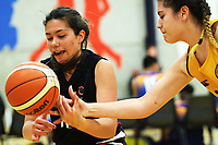 Action from the 2017 Zone 3 AA Secondary Schools basketball premierships girls match between Wellington Girls' College and Feilding High School at Arena Manawatu in Palmerston North, New Zealand on Wednesday, 6 September 2017. Photo: Dave Lintott / lintottphoto.co.nz