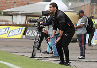 IPIALES - COLOMBIA, 25-09-2019: Aldo Bobadilla técnico del Medellin gesticula durante partido por la semifinal ida como parte de la Copa Águila 2019 entre Deportivo Pasto e Independiente Medellín jugado en el estadio Estadio Municipal de Ipiales. / Aldo Bobadilla coach of Medellin gestures during match for the first leg semifinal as part of Aguila Cup 2019 between Deportivo Pasto and Independiente Medellin played at Municipal stadium of Ipiales.  Photo: VizzorImage / Leonardo Castro / Cont