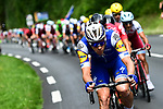 The peloton in action during Stage 10 of the 104th edition of the Tour de France 2017, running 178km from Perigueux to Bergerac, France. 11th July 2017.<br /> Picture: ASO/Alex Broadway | Cyclefile<br /> <br /> <br /> All photos usage must carry mandatory copyright credit (&copy; Cyclefile | ASO/Alex Broadway)