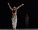 """Edinburgh, UK. 21.08.2017. Nederlands Dans Theater present a triple bill, comprising """"Shoot the Moon"""", """"the missing door"""" and """"Stop-Motion"""", at the Edinburgh Playhouse, as part of the Edinburgh International Festival. The piece shown is: """"Stop-Motion"""", choreographed and designed by Sol Leon and Paul Lightfoot, with lighting design by Tom Bevoort. The dancers are: Jorge Nozal, Chloe Albaret, Ceasar Faria Fernandes, Juliette Brunner, Roger Van der Poel, Meng-Ke Wu, Marne van Opstal, Jianhui Wang. Photograph © Jane Hobson."""