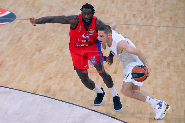 Turkish Airlines Euroleague.<br /> Final Four - Vitoria-Gasteiz 2019.<br /> Semifinals.<br /> CSKA Moscow vs Real Madrid: 95-90.<br /> Othello Hunter vs Fabien Causeur.