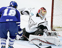AMERICAN HOCKEY LEAGUE -- The San Antonio Rampage play the Toronto Marlies, Jan. 20, 2008, at the AT&T Center in San Antonio. Toronto won 2 - 1 in a shootout. (Darren Abate/PressPhoto International)