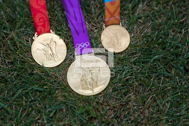 USWNT captain Christie Rampone has won 3 Olympic gold medals while playing for the team in Athens, Beijing, and London.