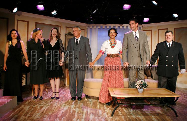Laura Koffman, Sarah Wynter, Myra Bairstow (Playwright), Mark Lamura, Sarita Choudhury, Patrick Boll & Michael Badalucco (Curtain Call)<br />attending the Opening Night Performance of THE RISE OF DOROTHY HALE at the St. Lukes Theatre with an after party at Sardi's Restaurant in New York City.<br />September 30, 2007