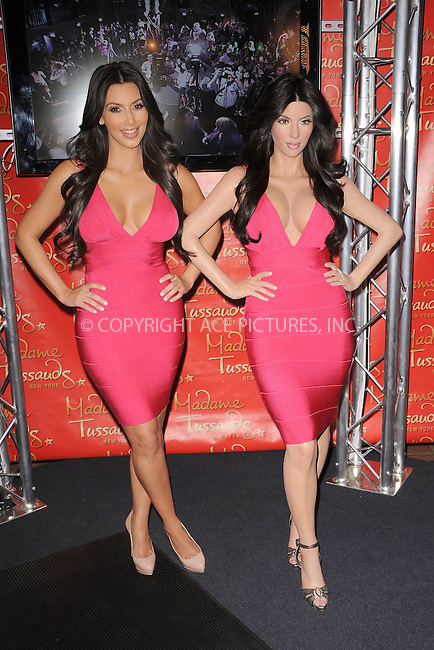 WWW.ACEPIXS.COM . . . . . .July 1, 2010, New York City....Kim Kardashian unveils her wax figure at Madame Tussauds on July 1, 2010 in New York City....Please byline: KRISTIN CALLAHAN - ACEPIXS.COM.. . . . . . ..Ace Pictures, Inc: ..tel: (212) 243 8787 or (646) 769 0430..e-mail: info@acepixs.com..web: http://www.acepixs.com .