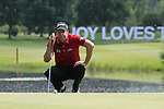Bradley Dredge lines up his putt on the 16th green and drops 2 shots in the process during the Final Day of The BMW International Open Munich at Eichenried Golf Club, 27th June 2010 (Photo by Eoin Clarke/GOLFFILE).