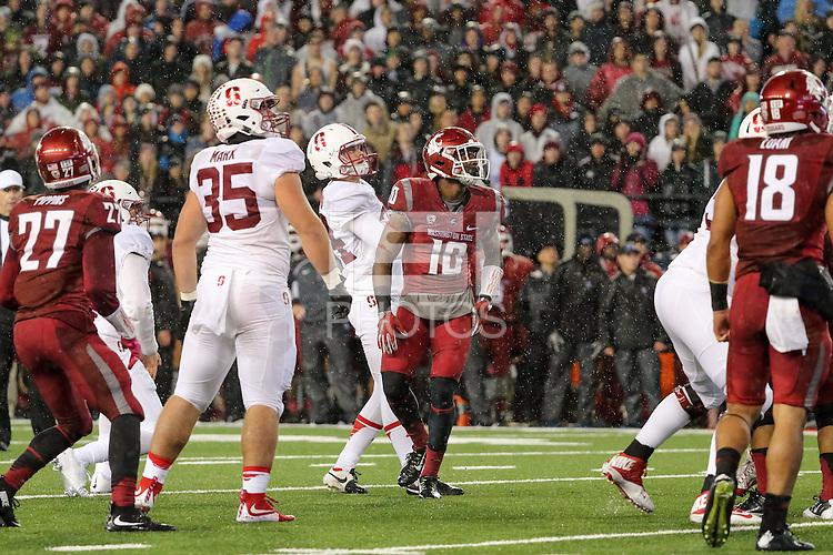 Pullman, WA -- October 31, 2015:  Stanford Cardinal defeat Washington State Cougars 30-28 at Martin Stadium.
