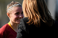 Jenny Bitzer of AS Roma talks with the coach Elisabetta Bavagnoli during the Women Italy cup round of 8 second leg match between AS Roma and Roma Calcio Femminile at stadio delle tre fontane, Roma, February 20, 2019 <br /> Foto Andrea Staccioli / Insidefoto