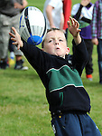 Oram Matthews taking part in the Ardee Rugby Club open day. Photo: Colin Bell/pressphotos.ie