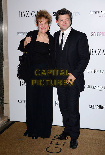 LONDON, ENGLAND - NOVEMBER 05: Lorraine Ashbourne, Andy Serkis  attends the Harper's Bazaar Women of the Year Awards 2013, Claridge's Hotel on November 05, 2013 in London, England, UK.<br /> CAP/BF<br /> &copy;Bob Fidgeon/Capital Pictures