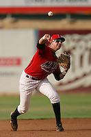 September 7 2009:  Alex Liddi of the High Desert Mavericks during game against the Modesto Nuts at Maverick Stadium in Adelanto,CA.  Photo by Larry Goren/Four Seam Images