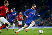 Gonzalo Higuain of Chelsea in action during Chelsea vs Manchester United, Emirates FA Cup Football at Stamford Bridge on 18th February 2019