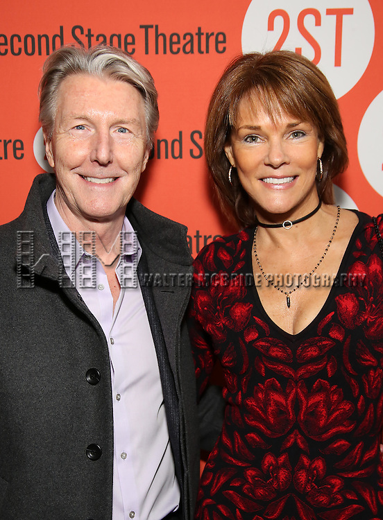 Byron Jennings and Carolyn McCormick attends the Off-Broadway Opening Night performance of 'Man From Nebraska' at the Second StageTheatre on February 15, 2017 in New York City.