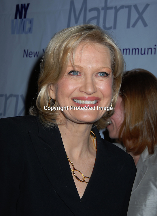 Diane Sawyer ..at the New York Women in Communications, Inc 2006 Matrix Awards Luncheon on April 3, 2006 at The Waldorf Astoria Hotel. ..Robin Platzer, Twin Images
